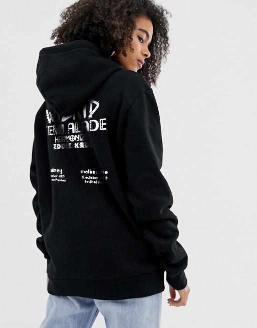 1DA Unisex Black Hoodie