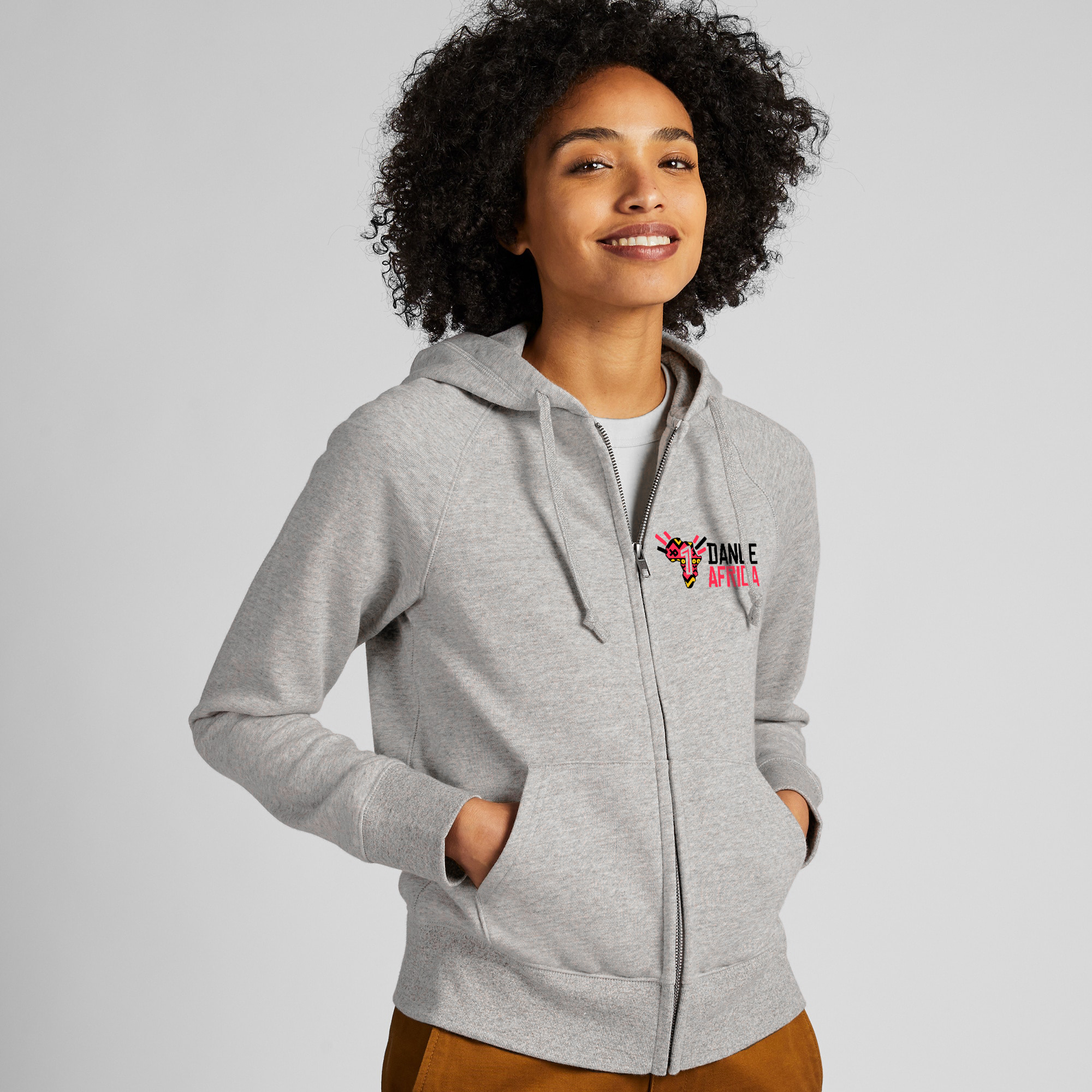 1DA Unisex Grey Zip Up